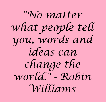 Robin Williams quote - happy