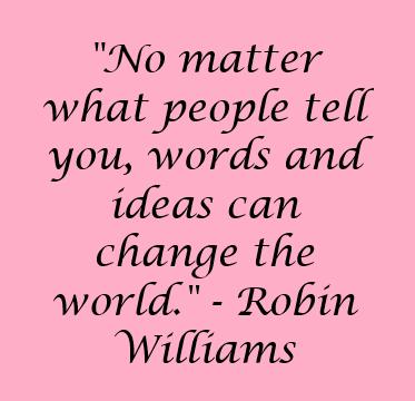 Robin Williams quote - happy