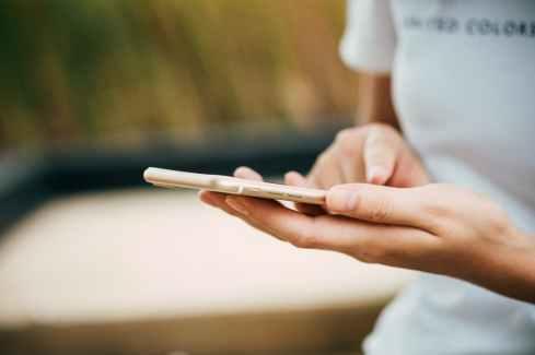blur cellphone close up device