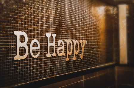 be happy signage